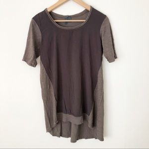 Anthro Left Of Center Ellesmere High Low Tunic Top